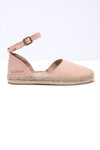 Peonia - Pink Leather Ankle Strap