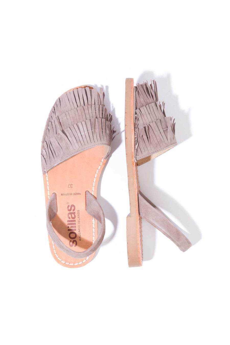 Franja - Taupe Fringe Leather