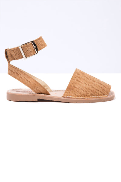 Tejido - Tan Woven Leather Ankle Strap
