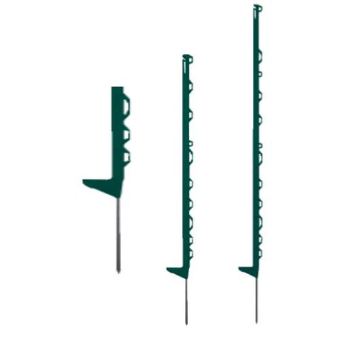 Green plastic horse fence posts