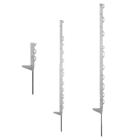 White Electric fence posts for horses