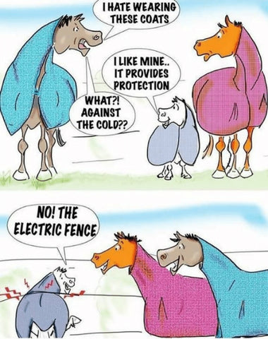 Electric Fencing Horse Blanket
