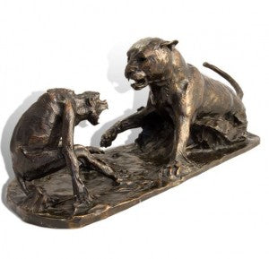 Nemesis – sculpture of leopard and baboon