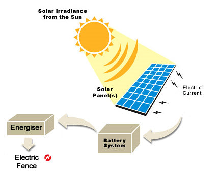 Solar Powered Electric Fence Setup