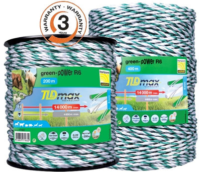 Budget Green Electric fencing rope