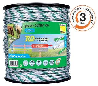 Green Electric fencing rope