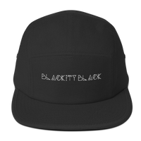 """Blackity Black"" Five Panel Hat"