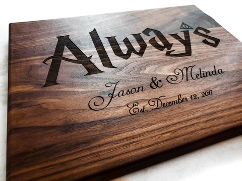 Personalized Harry Potter Inspired Cutting Board - The Greatest Wedding or Anniversary Gift!