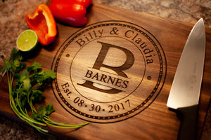 Wedding or Anniversary Personalized Cutting Board!