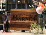 Personalized Wedding or Anniversary Cutting Board - The Greatest Wedding or Anniversary Gift!