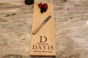Personalized Serving Board, cheese Board, Bread Board, Custom Engraved, Wedding Gift, Housewarming Gift, Anniversary Gift -Naked wood works