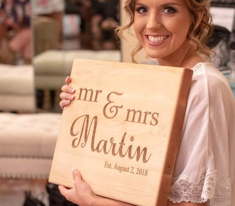 Personalized Wedding Gift, Cutting Board, Wedding Gift For The Couple, Wedding Gift For The Bride, - Naked Wood Works
