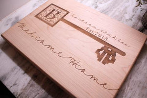 Housewarming gifts, Personalized Cutting Board, Welcome Home, New Homeowners Gifts, Couples Gifts, Client Gifts - Naked Wood Works