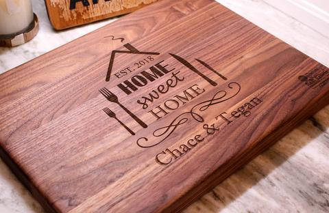 Real Estate Closing Gift - New Homeowners Gift Custom Engraved Cutting Board