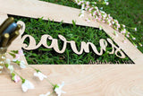 Wedding Signature Board Guest book Alternative - Wedding Signs, 3D Guestbook