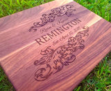 Wedding Gifts, Anniversary Gifts, Personalized Cutting Board, Engagement Gift, Anniversary gift for Men, Couples gifts - Naked Wood Works