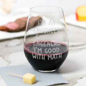 Perfect Funny Gift for Engineer - Husband, Coworker or Friend Gift - I'm good with math - Naked Wood Works