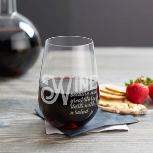 Wine Lovers, the perfect Wine glass - Funny Birthday or best friend gift for her or him - Naked Wood Works