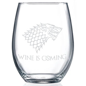 Game of Thrones Wine Is Coming Wine glass