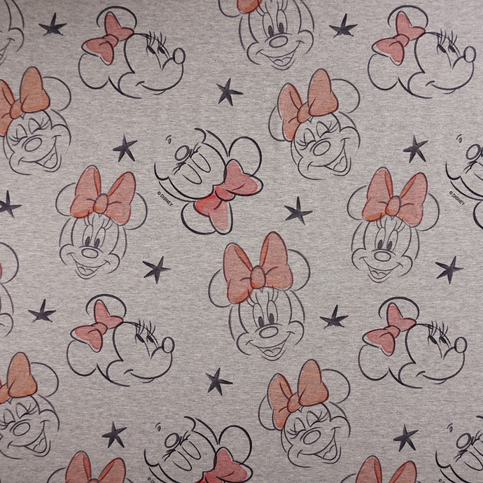 French Terry Disney's Minnie Maus - Lizenziert