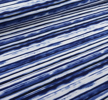 FT Digitaldruck Painted Stripes Blau