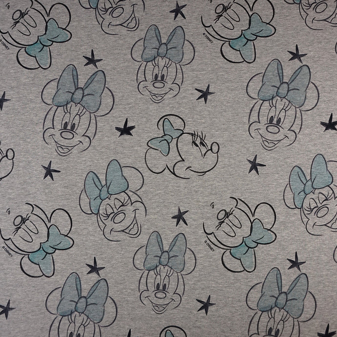 French Terry Disney's Minnie Maus Mint - Lizenziert