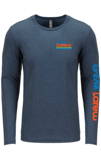 Gene Larew Indigo Long Sleeve Logo Tee
