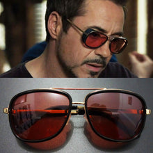 Tony Stark Iron Man Sunglasses Men Luxury Brand Eyewear Mirror Punk Sun Glasses Vintage Male Sunglasses Steampunk Oculos