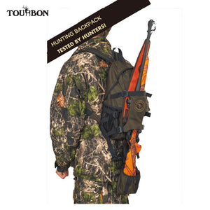 Tourbon Tactical Hunting Backpack Outdoor Men Nylon Bag w/ Large Capacity Travel Hiking Climbing Bags for Shooting