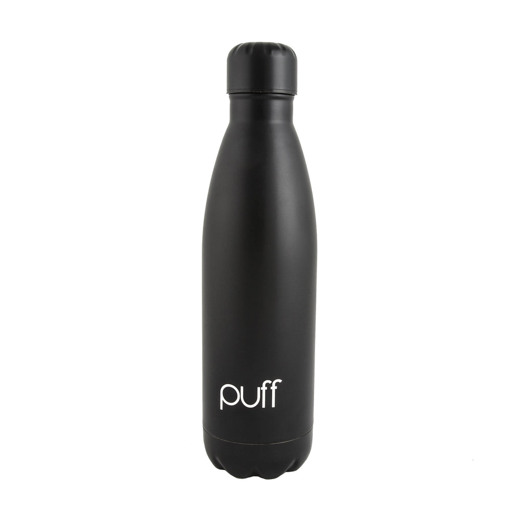 "puff | Matte Black Stainless Steel Bottle. ""500ml"""