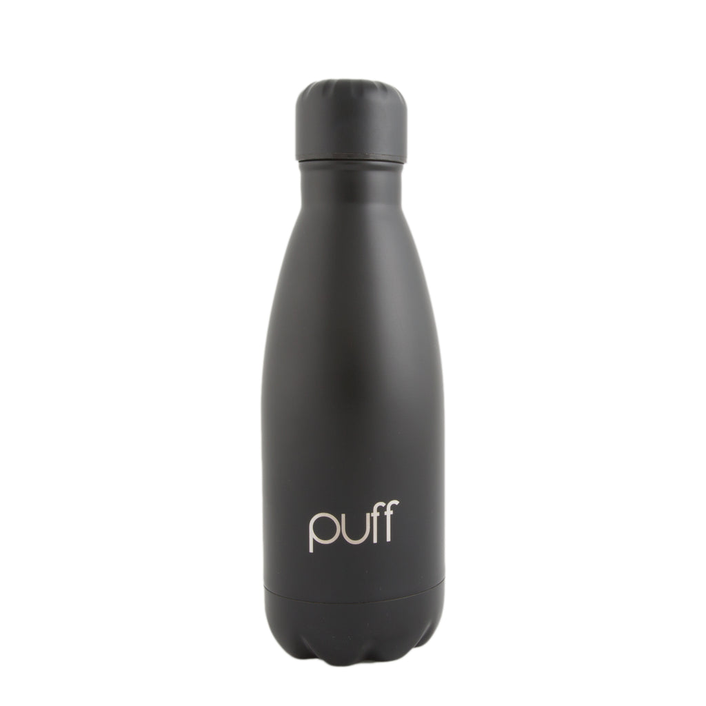 "puff | Matte Black Stainless Steel Bottle. ""350ml"""