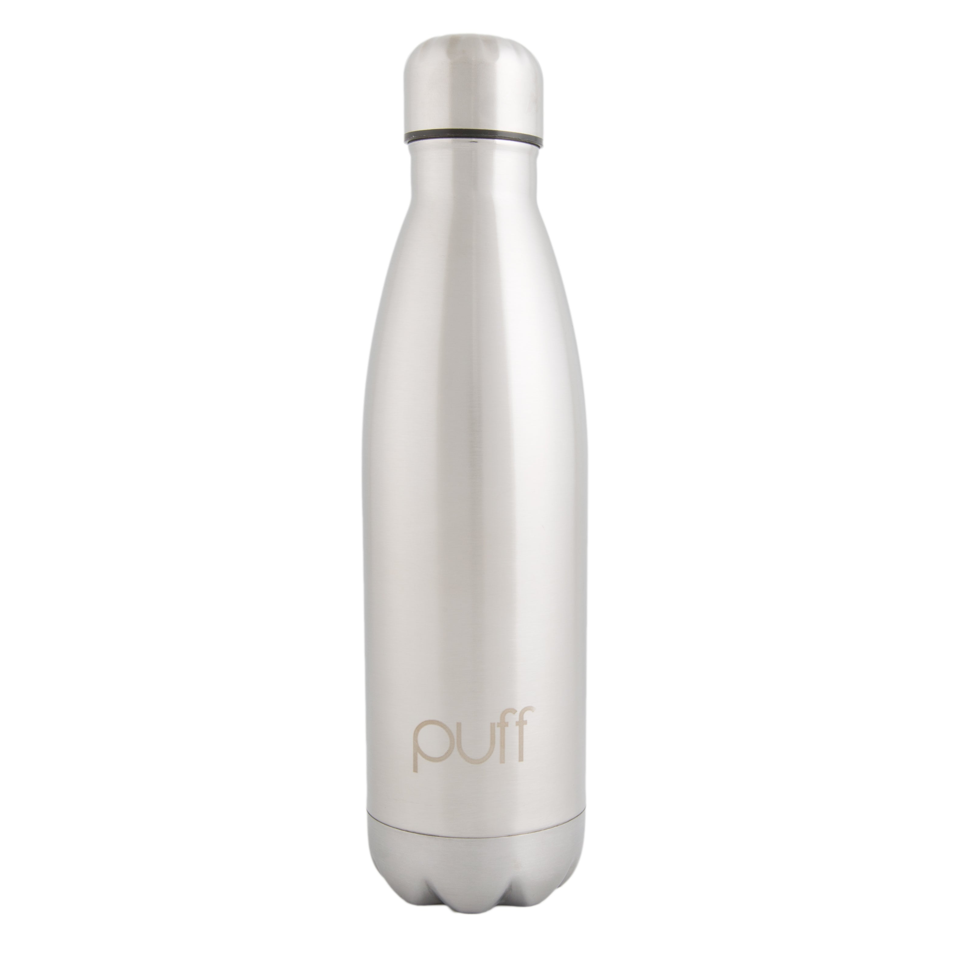 "puff | Silver Stainless Steel Bottle. ""500ml"""