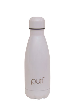 "puff | White Stainless Steel Bottle. ""350ml"""