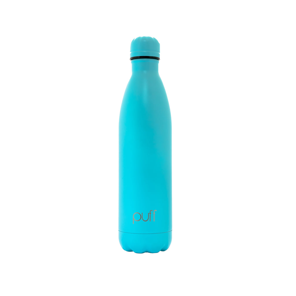 "puff | Matte Baby Blue Stainless Steel Bottle. ""750ml"""