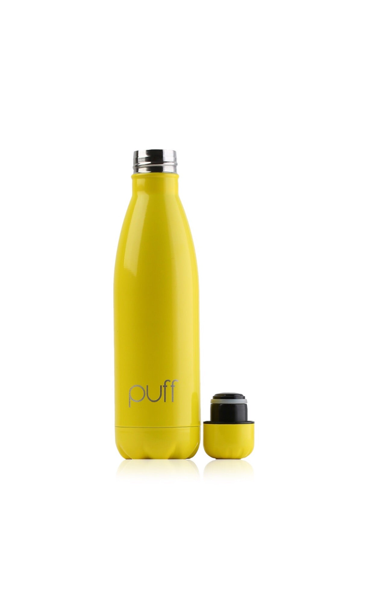 "puff | Yellow Stainless Steel Bottle. ""500ml"""