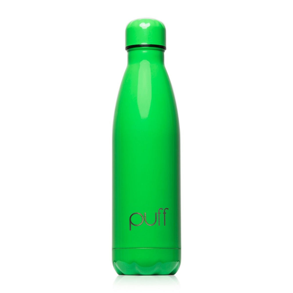 "puff | Green Stainless Steel Bottle. ""500ml"""