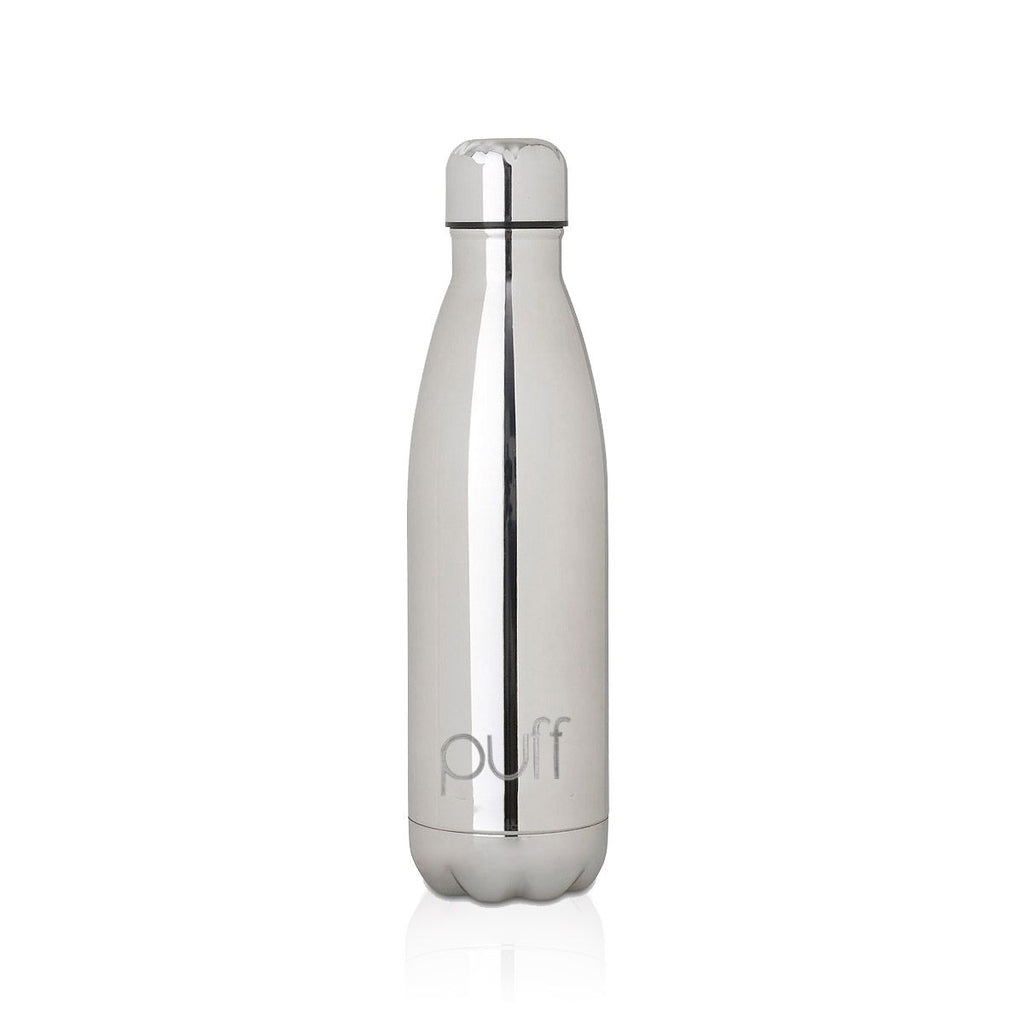 "puff | Chrome Stainless Steel Bottle. ""500ml"""