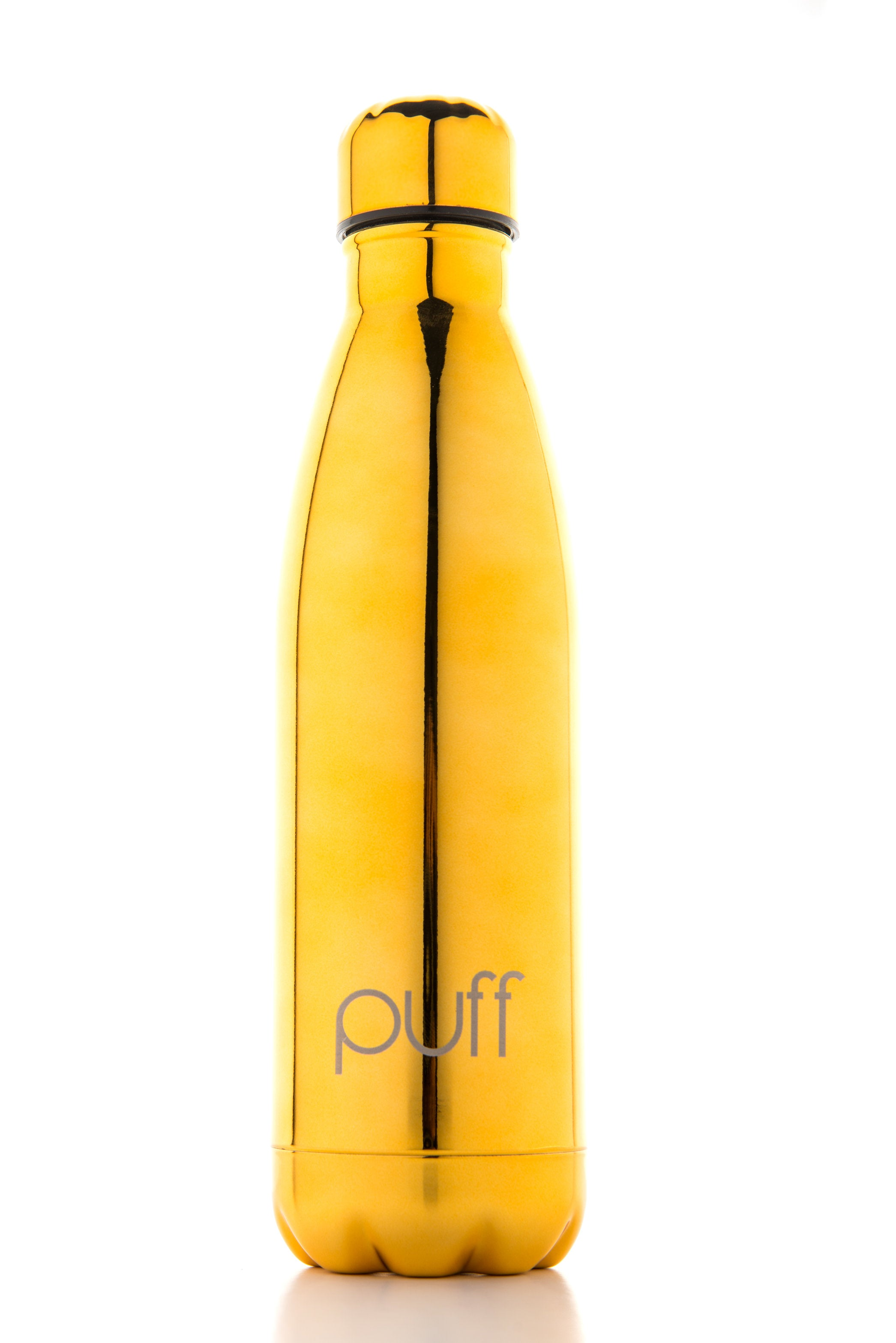"puff | Metallic Gold Stainless Steel Bottle. ""750ml"""