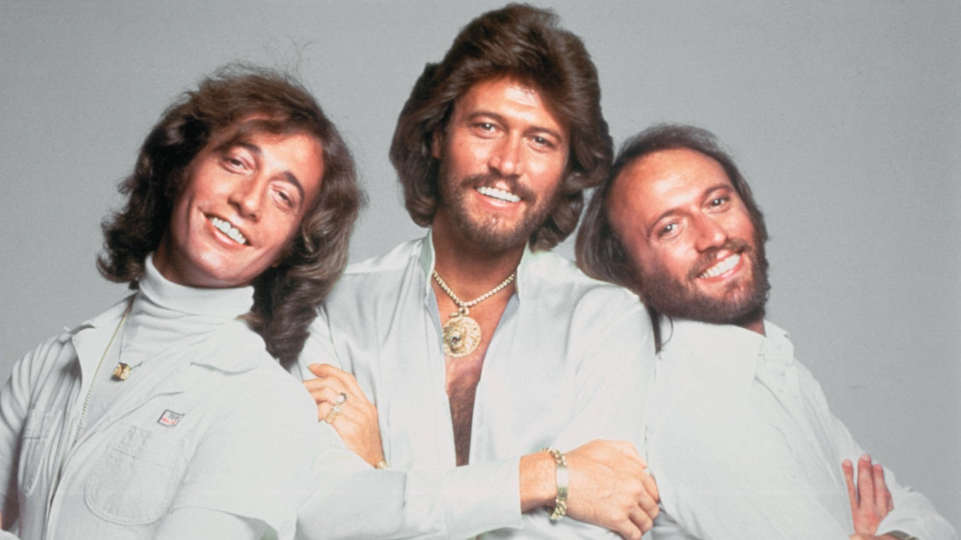 Photo of The Bee Gees with classic 70s haircuts