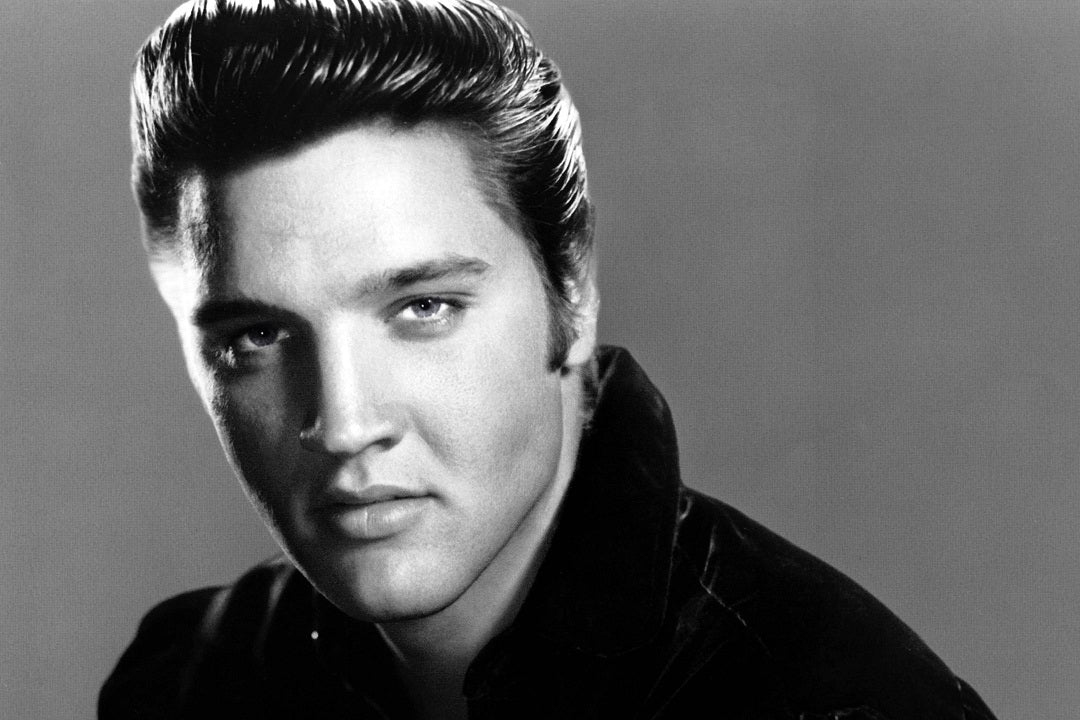 Photo of Elvis Presley with a pompadour haircut