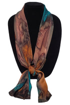 Hand Painted Silk Satin Stripe Scarves