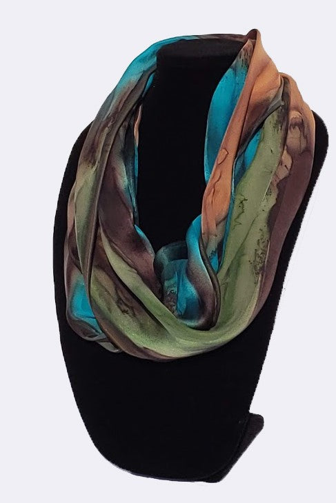 "Infinity (Circle) Scarves (14"" x 72"") - Silk Sensations"