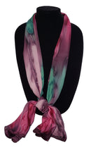 Hand Painted Silk Satin Stripe Scarves - Silk Sensations