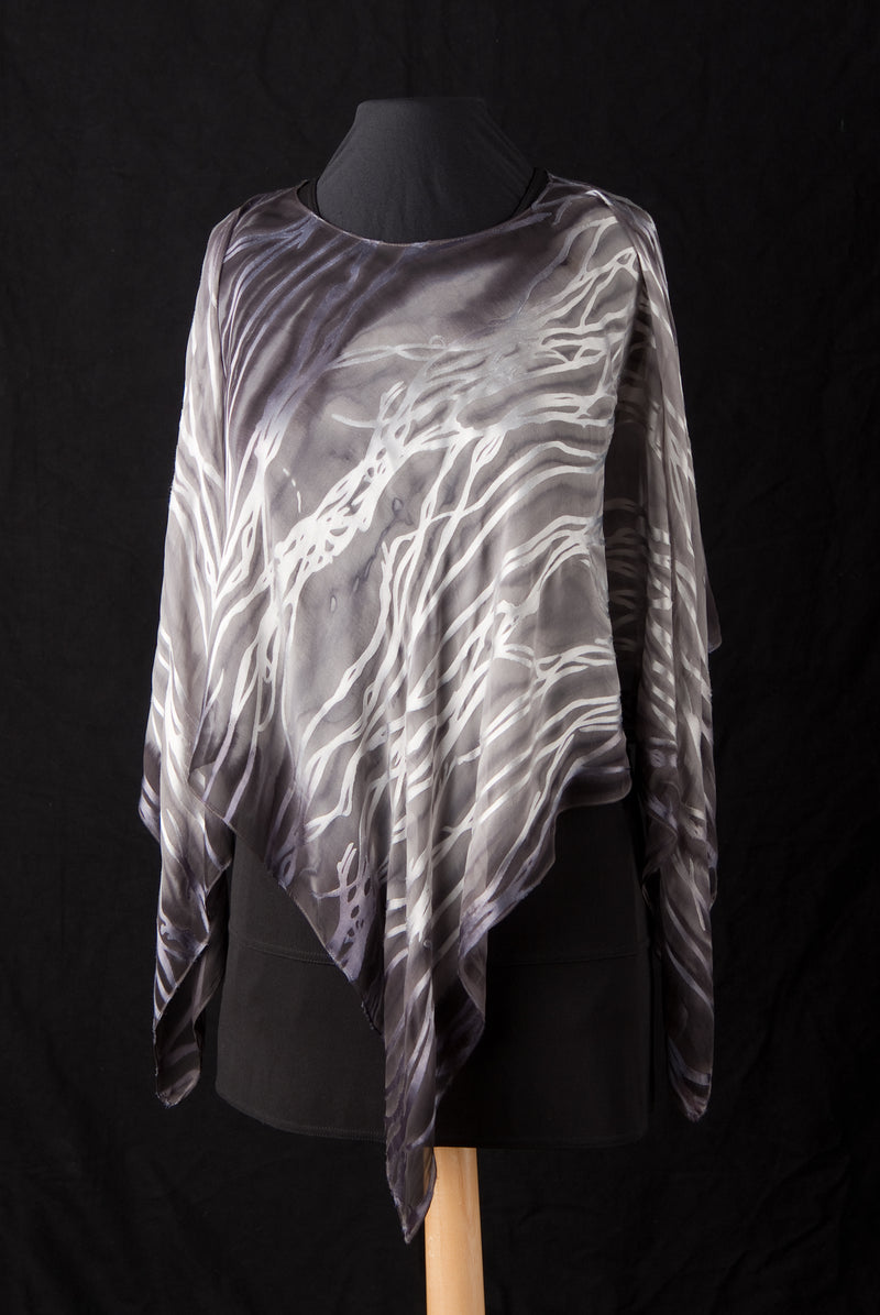 Ponchos- Twig Pattern - Silk Sensations