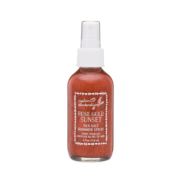 Rose Gold Sunset Sea Salt Shimmer Spray - Green Core Naturals
