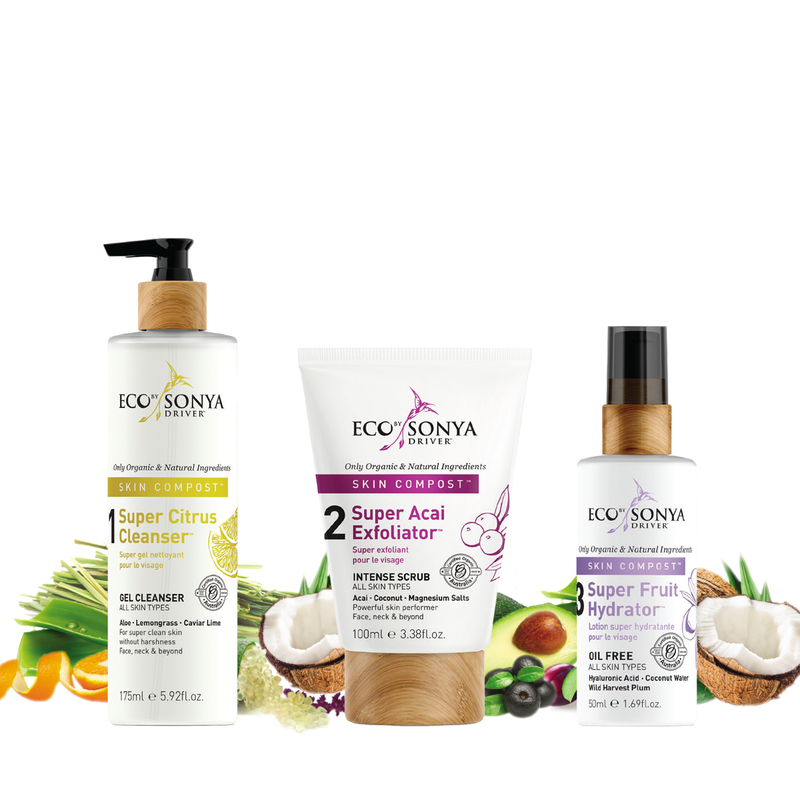 3-Step Skincare System - Green Core Naturals