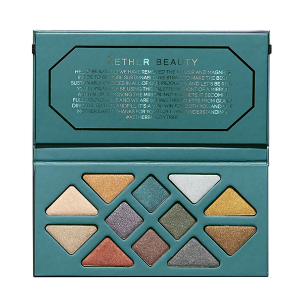 Crystal Grid Gemstone Eyeshadow Palette - Green Core Naturals