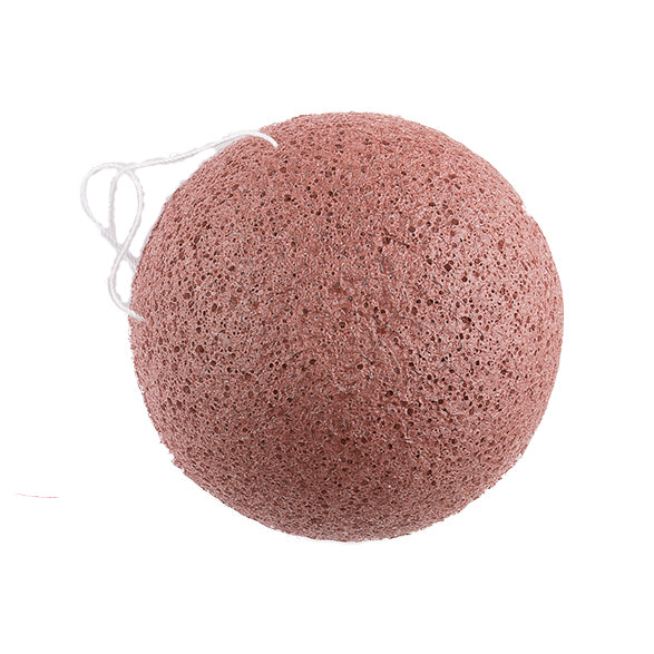 Konjac Facial Sponge with Red French Clay - Green Core Naturals