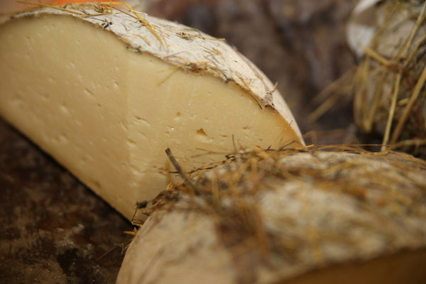 GIFT IDEA! Exclusive Pecorino Marmora, matured in Alpine fresh hay, 100% raw alpine sheep's milk.