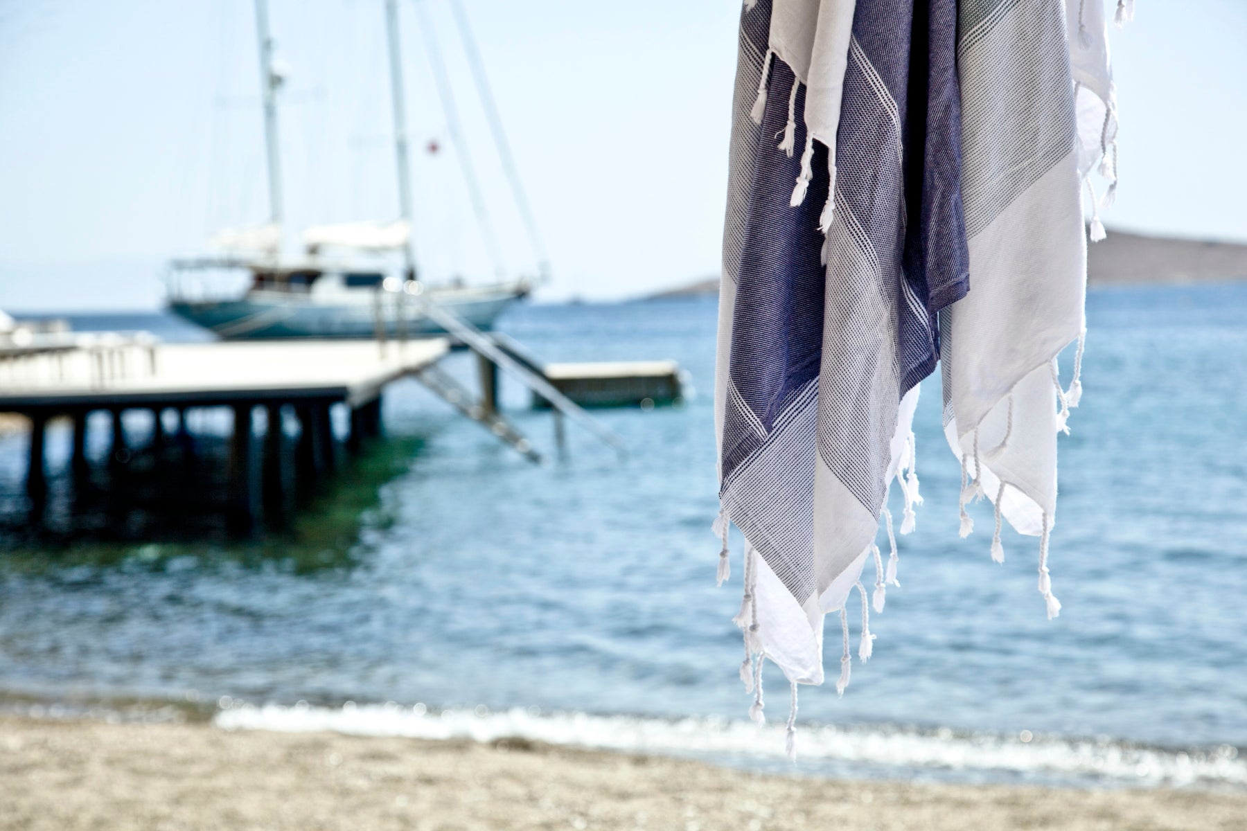 Towel; Towels; Beach Towel; Beach Towels; Hammam; Hammams; Hammamas; Peshtemal; Pestemal; Fouta; Futah; Sarong; Turkey; Greece; France; Italy; Spain; Summer; Holiday; Hotel; Apartment; Villa; Yacht; Yachting; Sun; Travel; Travelers; Travel Essential; Travel Light; Travelling; Hot; Sea; Sand; Sailing; Surfing; Nautical; Festival; Camping; Backpacking; Sunbed; UK; England; Devon; Cornwall; Dorset; Lifestyle; Cotton; Pool; Homestyle